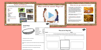 Mayan Civilization Food Lesson Teaching Pack PowerPoint - mayans