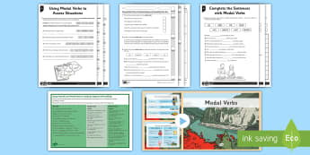 Modal Verbs KS2 - SEO Ranking English Resources, English, literacy, ks2, SPaG, modal, verbs, will, must, writing, doin
