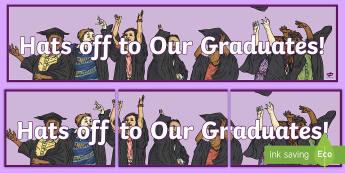 Graduation Banner - Graduation, 6th Class, Graduates, Celebration, End of year,Irish