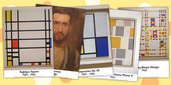 Piet Mondrian Photo Pack - photos, displays, display, visual