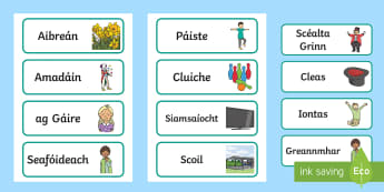 April Fools' Day Key Vocabulary Display Labels Gaeilge - ROI, Easter, Key Vocabulary, Labels, Irish, language, Jesus, God, language, Gaeilge, religious educa