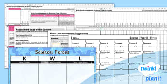 PlanIt - Science Year 5 - Forces Assessment Pack - planit, science, year 5, forces, assessment, pack