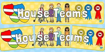 House Teams Display Banner - house, teams, display banner, display