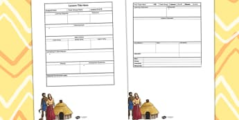 Bronze Age Themed Editable Individual Lesson Plan Template