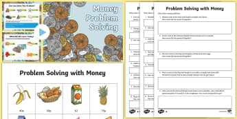 Money Problem Solving PowerPoint Pack - money, pay, change, problem solving, pounds, pence, PowerPoint pack