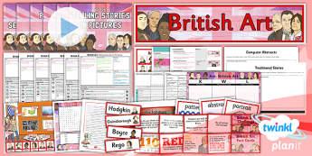 Planit - Art LKS2 - British Art Unit Pack - planit, unit, pack