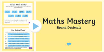 Year 5, Fractions and Decimals, Rounding Decimals Maths Mastery Activities PowerPoint