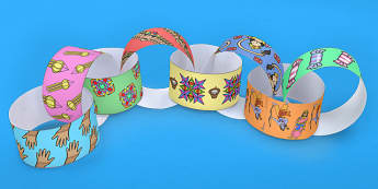 Diwali Themed Paper Chain - hinduism, hindu, crafts, art, DT