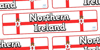 Northern Ireland Display Banner - Northern Ireland, display, banner, Northern, Irish, shamrock