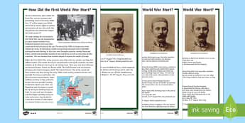 How Did The First World War Start? Differentiated Fact File