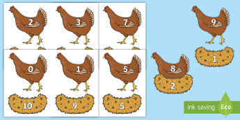 Hen and Nest Number Bonds to 10 Activity Sheets - EYFS, Early Years, Maths, Making 10, numbers to 10, number pairs, chicken, farm. Worksheets
