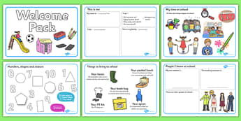 Foundation Stage 2 Welcome Pack - Back to school, welcome pack, welcome, starting school, all about me, about me, starting nursery, starting KS1
