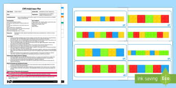 EYFS Building Block Colour Sequencing Adult Input Plan and Resource Pack - EYFS, Early Years planning, adult led, Maths, shape, space and measure,pattern, ssm