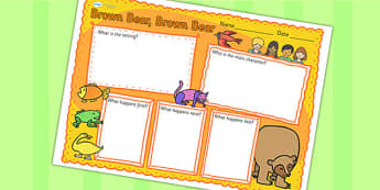 Book Review Writing Frame to Support Teaching on Brown Bear, Brown Bear - brown bear brown bear, book review, writing frame, book review writing frame, writing, writing template