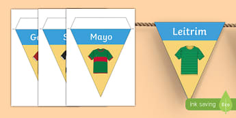 GAA Connacht County Colours Display Bunting-Irish