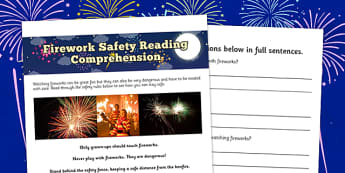 Bonfire Night Safety Differentiated Reading Comprehension - bonfire night, safety, differentiated, reading
