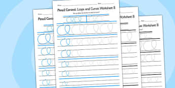 Pencil Control Loops And Curves Worksheet 8 - pencil control