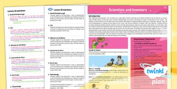 CfE Second Level Science Y5 Scientists and Inventors PlanIt Overview - CfE Planit Overviews, science, scientists, David Attenborough, Margaret Hamilton, Apollo, Moon, Leon