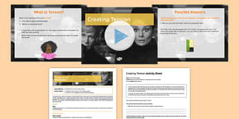 Narrative Writing Lesson Pack 5: Creating Tension - narrative writing, lesson pack, creating tension