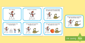 Initial sn Word Story Cards - Cluster reduction, phonology, articulation, dyspraxia, sentence level, speech sounds