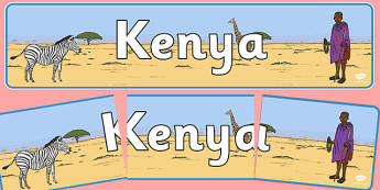Kenya Display Banner - Kenya, Kenian, display, banner, sign, poster, Africa, country, world, African, Nairobi, East Africa