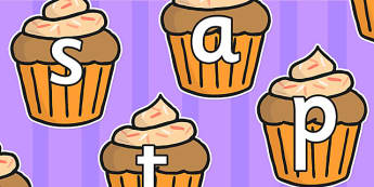 Phase 2 Phoneme Sounds on Cupcakes - phonemes, phase 2, cupcakes
