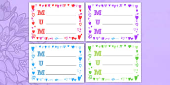 Landscape Mum Acrostic Poem (Hearts) - acrostic poems, acrostic poem, mum acrostic poems, mum acrostic poem sheets, mothers day acrostic poem sheets, writing frame, writing sheet, acrostic, poem, poetry, literacy, writing activity, activity