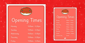 Christmas Post Office Opening Times - christmas, post office, opening, times