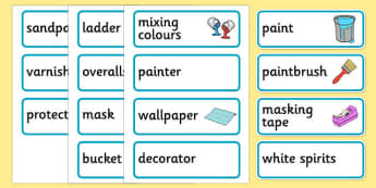 Paint Shop Role Play Labels - paint shop, role play, labels, paint, shop, role, play