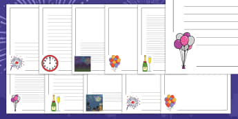 New Year Page Border Pack - EYFS, Early Years, KS1, New Year's, January, celebration, New Year's Eve