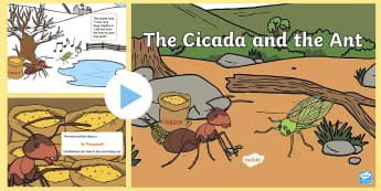 Traditional Thai Tales The Cicada and the Ant PowerPoint - Traditional Thai Tales, traditional tales, be prepared, moral, story, cicada, ant, be prepared, thai