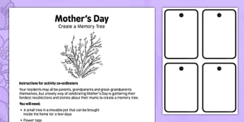 Elderly Care Mother's Day Memory Activity - Elderly, Reminiscence, Care Homes, Mother's Day, activity, memory
