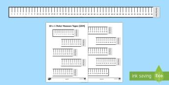 Make a Kilometre Tape Activity-Irish - kilometre, km, metre, tape measure, measures, length, measuring equipment, whole school, class group