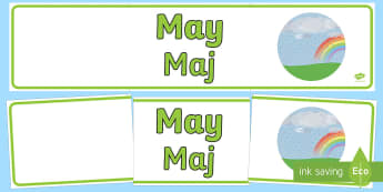 May Display Banner English/Polish - may, display banner, display, banner, months, year, abnner,EAL,Polish-translation