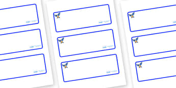 Starling Themed Editable Drawer-Peg-Name Labels (Blank) - Themed Classroom Label Templates, Resource Labels, Name Labels, Editable Labels, Drawer Labels, Coat Peg Labels, Peg Label, KS1 Labels, Foundation Labels, Foundation Stage Labels, Teaching Lab