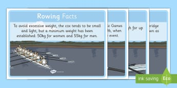 The Olympics Rowing Display Facts - Rio, events, Olympic, row information, facts
