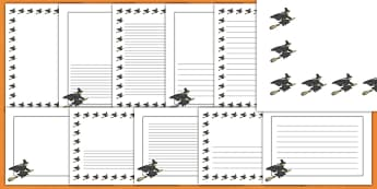 Halloween Witch Page Border Pack
