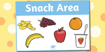 Snack Area Sign - area, sign, area sign, snack, snack area