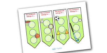 Sport Sticker Reward Bookmarks (30mm) - Sport Reward Bookmarks (30mm), reward bookmarks, sport, bookmarks, reward, 30mm, stickers, twinkl stickers, award, certificate, well done, behaviour management, behaviour, sport, sports, football, netball, gymn