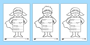 All About Me Superhero Writing Template Urdu Translation - urdu, Ourselves, All about me, family, Ks1, Y1, Year 1, EYFS, Reception, Growing, growth