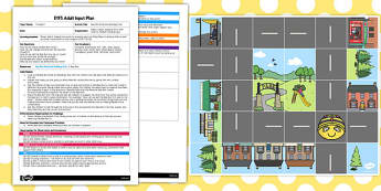 Bee Bot Road and Buildings Mat EYFS Adult Input Plan and Resource Pack