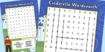 Cinderella Wordsearch - cinderella, wordsearch, words, activity
