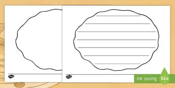 Pancake Writing Template - pancake, writing, write, read, reading
