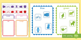 Color Sorting Activity - Common Core, Math, shapes, geometry, attributes of shapes,