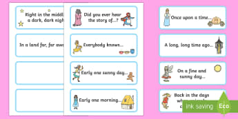 Story Opener Sentence Flashcards