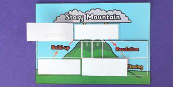 Story Mountain Interactive Flap Book - flap book, interactive