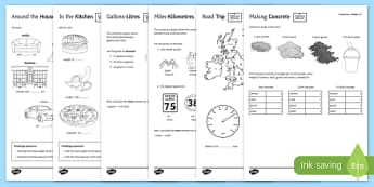 Measure at Home Measure Problems PowerPoint GCSE Grades 1-3 Activity Sheet - measure at home, measure problems, measure, problem, powerpoint, gcse, grade, activity, worksheet