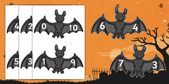 Number Bonds to 10 on Bats Display Cut-Outs