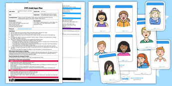 Face Pairs EYFS Adult Input Plan and Resource Pack - adult led, plan, faces