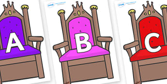 A-Z Alphabet on Thrones - A-Z, A4, display, Alphabet frieze, Display letters, Letter posters, A-Z letters, Alphabet flashcards